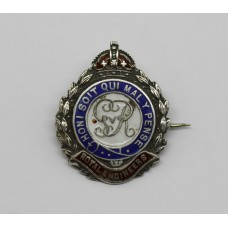 George V Royal Engineers Silver & Enamel Sweetheart Brooch