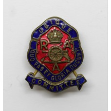 Royal Artillery Association Committee Enamelled Lapel Badge - King's Crown