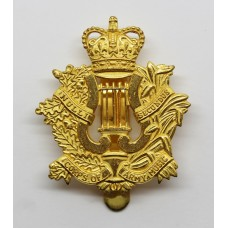 Corps of Army Music Gilt Cap Badge - Queen's Crown