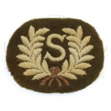 British Army Surveyor (S) Cloth Proficiency Arm Badge