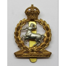 Royal Army Veterinary Corps Cap Badge - King's Crown