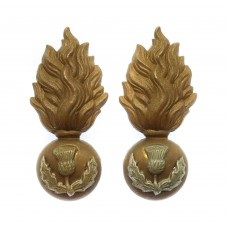 Pair of Royal Scots Fusiliers Collar Badges