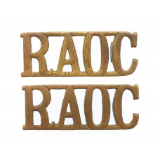 Pair of Royal Army Ordnance Corps (R.A.O.C.) Shoulder Titles