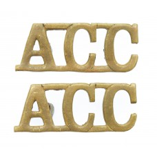 Pair of Army Catering Corps (A.C.C.) Shoulder Titles