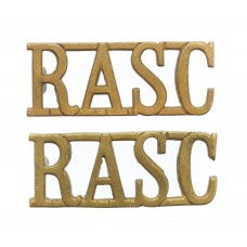Pair of Royal Army Service Corps (R.A.S.C.) Shoulder Titles