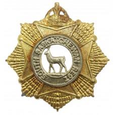 Canadian South Saskatchewan Regiment Cap Badge - King's Crown