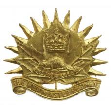Canadian Westminster Regiment Cap Badge - Queen's Crown