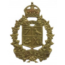 Canadian 7th/11th Hussars Cap Badge - King's Crown