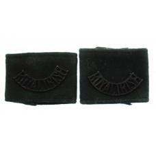 Pair of Royal Irish Regiment(ROYAL IRISH) Black Anodised (Staybrite) Shoulder Titles
