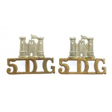 Pair of 5th Dragoon Guards (Castle/5.D.G.) Shoulder Titles