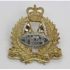 Royal New Zealand Armoured Corps Anodised (Staybrite) Cap Badge