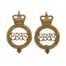 Pair of Grenadier Guards Shoulder Titles - Queen's Crown
