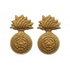 Pair of Victorian Royal Fusiliers Collar Badges