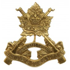 Canadian Les Fusiliers du St. Laurent Cap Badge - King's Crown