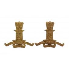 Pair of 11th Hussars Collar Badges