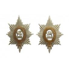 Pair of Worcestershire Regiment Bi-metal Collar Badges