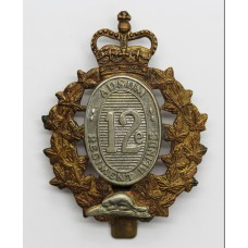 Canadian 12th Armoured Regiment of Canada Cap Badge - Queen's Crown
