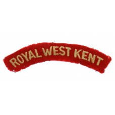 Royal West Kent Regiment (ROYAL WEST KENT) Cloth Shoulder Title