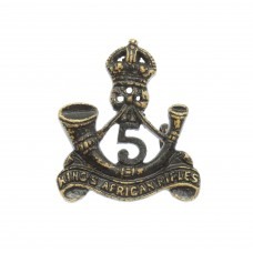5th King's African Rifles Collar Badge - King's Crown