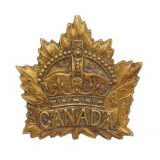 Canadian Canada General Service Cap Badge - King's Crown