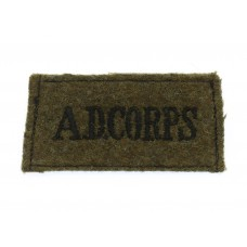 Army Dental Corps (A.D.CORPS) WW2 Cloth Slip On Shoulder Title