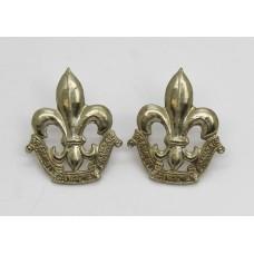 Pair of Royal 22nd Regiment Canadian Francais Collar Badges