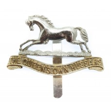 The Queen's Own Hussars Anodised (Staybrite) Cap Badge