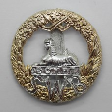 South Wales Borderers Anodised (Staybrite) Cap Badge