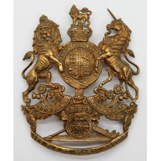Edward VII Royal Artillery Blue Cloth Helmet Plate
