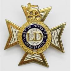 Light Dragoons Officer's Dress Cap Badge