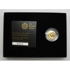 Royal Mint 2015 UK Tenth-Ounce Gold Brilliant Uncirculated £10 Coin - Lunar Year of the Sheep