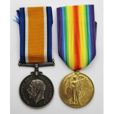 WW1 British War & Victory Medal Pair - Pte. D.B. Booth, Army