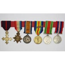 WW1 OBE, 1914-15 Star Trio (2 x M.I.D.) & WW2 Defence & War Medal Group of Six - Major B. Jessop, 8th Bn. Yorkshire Regiment & Royal Engineers