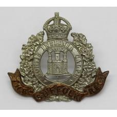 Edwardian Suffolk Regiment Cap Badge