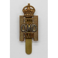 13th/18th/ QMO Royal Hussars Cap Badge - King's Crown