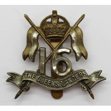 16th The Queen's Lancers Cap Badge - King's Crown