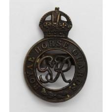 George VI Royal Horse Guards Officer's Service Dress Cap Badge