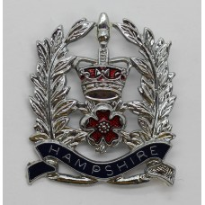 Hampshire Constabulary Sergeant's Enamelled Cap Badge - Queen's C