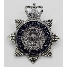 Port of Tilbury London Police Enamelled Cap Badge (c.1992-1995)