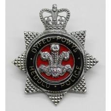 Dyfed-Powys Heddlu Police Senior Officer's Enamelled Cap Badge -