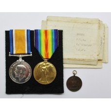 WW1 British War & Victory Medal Pair - F.Sgt. E.W. Hunter, Royal Air Force