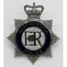 Northumbria Police Senior Officer's Enamelled Cap Badge - Queen's