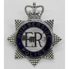 Humberside Police Senior Officer's Enamelled Cap Badge - Queen's