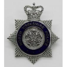 North Yorkshire Police Senior Officer's Enamelled Cap Badge - Que