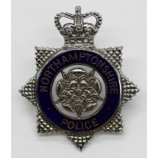 Northamptonshire Police Senior Officer's Enamelled Cap Badge - Qu