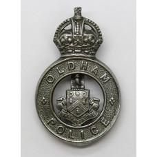Oldham Borough Police Cap Badge - King's Crown