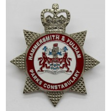 Hammersmith & Fulham Parks Constabulary Enamelled Cap Badge - Queen's Crown