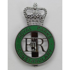 Royal Parks Constabulary Enamelled Cap Badge - Queen's Crown