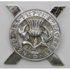 Lowland Brigade Anodised (Staybrite) Cap Badge