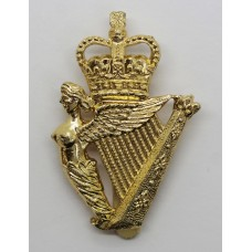 Ulster Defence Regiment Anodised (Staybrite) Cap Badge - Queen's